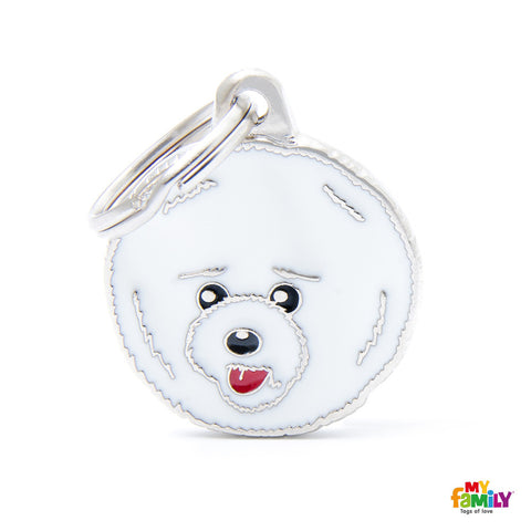 [product vendor]Friends Bichon Tag CharmDog