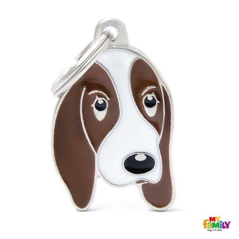 Friends Basset Hound Tag Charm