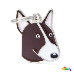 Friends Bull Terrier Dog Tag Charm