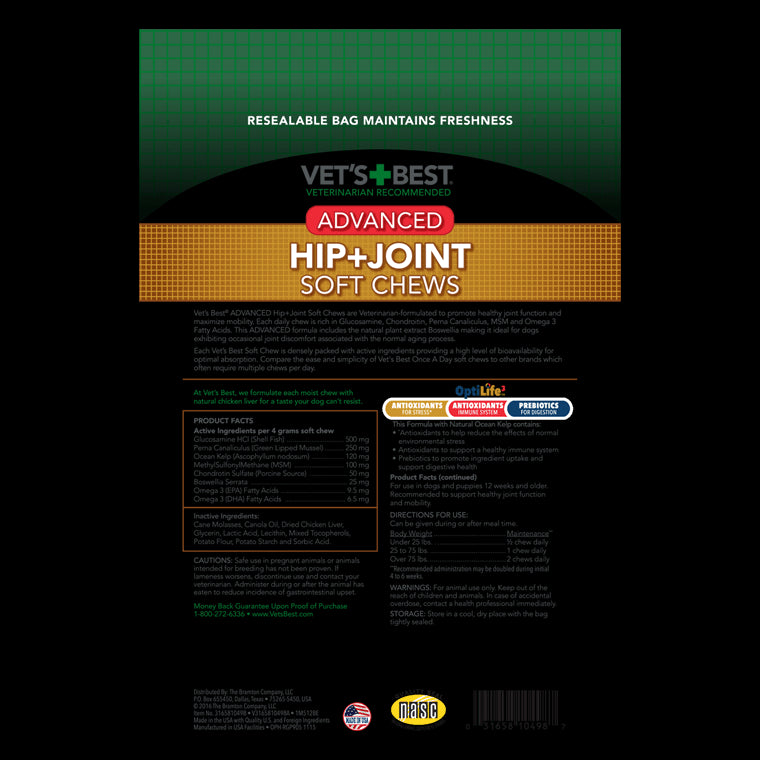 Advanced Hip + Joint Soft Chews Supplement