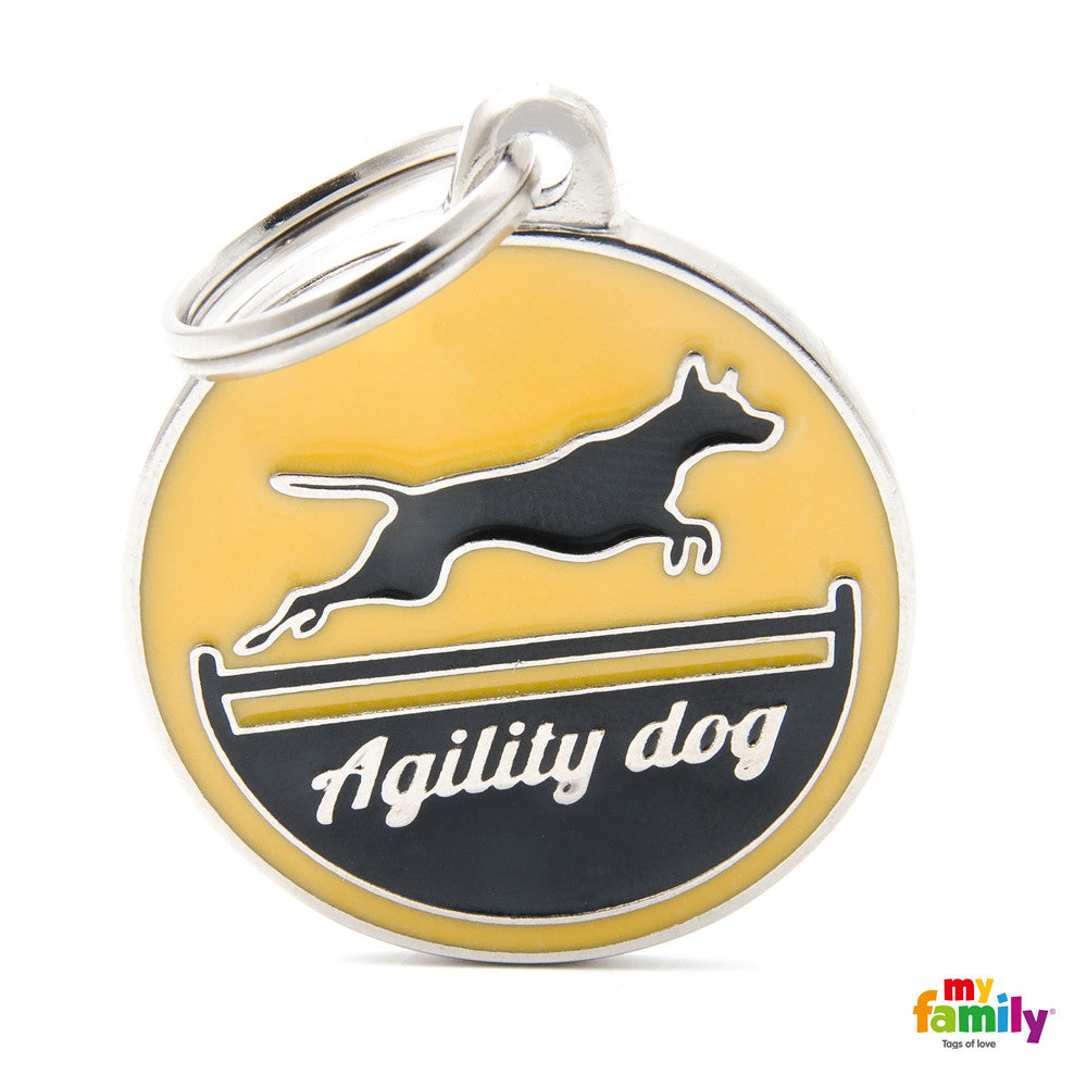 Agility Dog Tag Charm