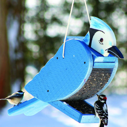Blue Jay Shape Bird Feeder