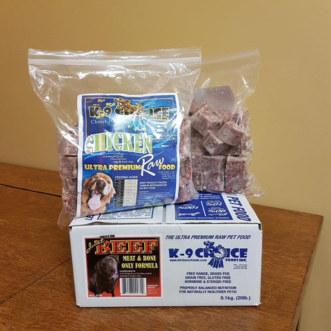K9 Choice Raw Ready Meals 9.1kg(8oz Patties)