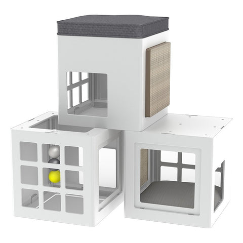 Katt3 Trendy Kube House for Cats