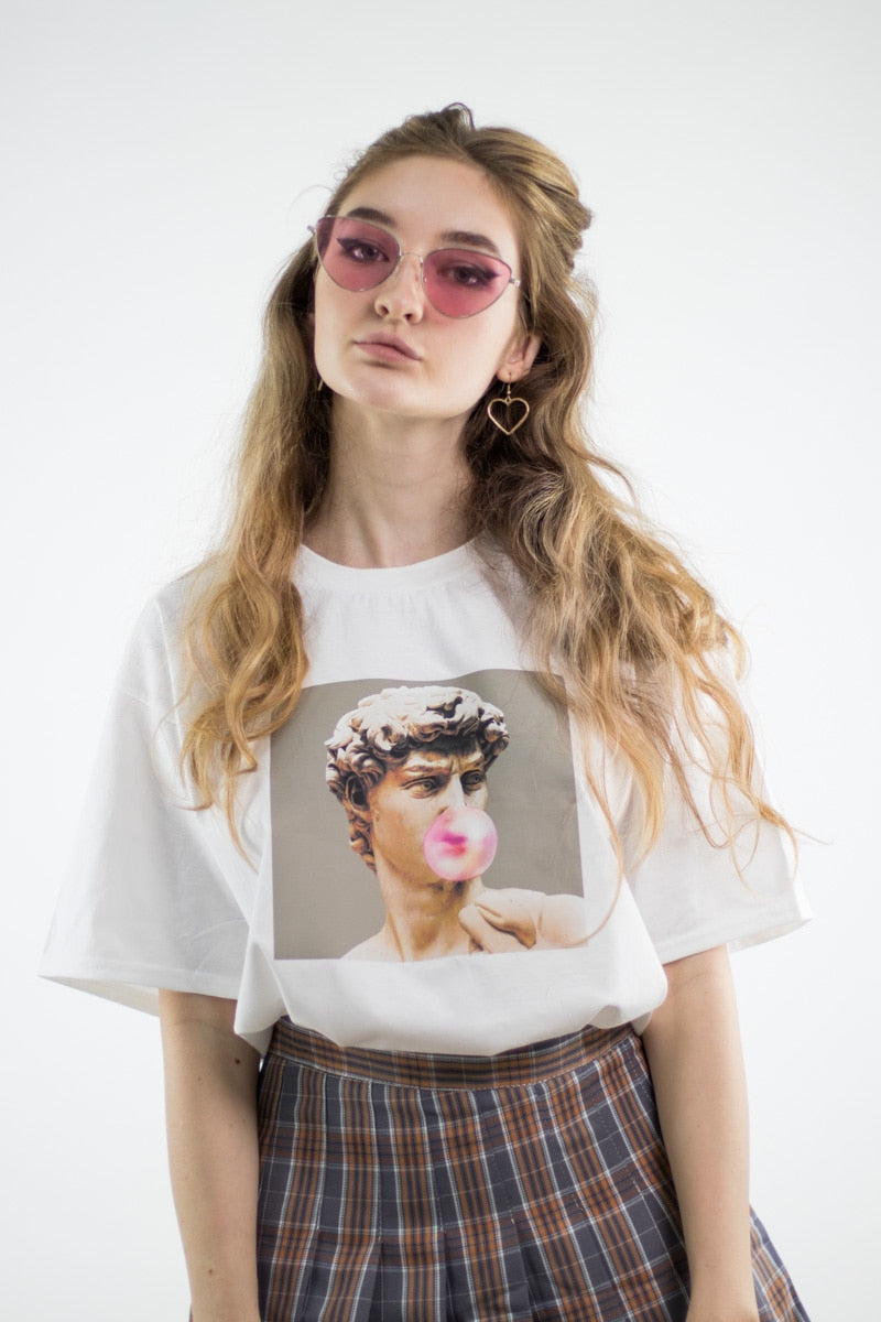 Michelangelo Bubble Gum Tee