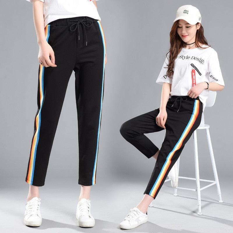Rainbow Strip Pants