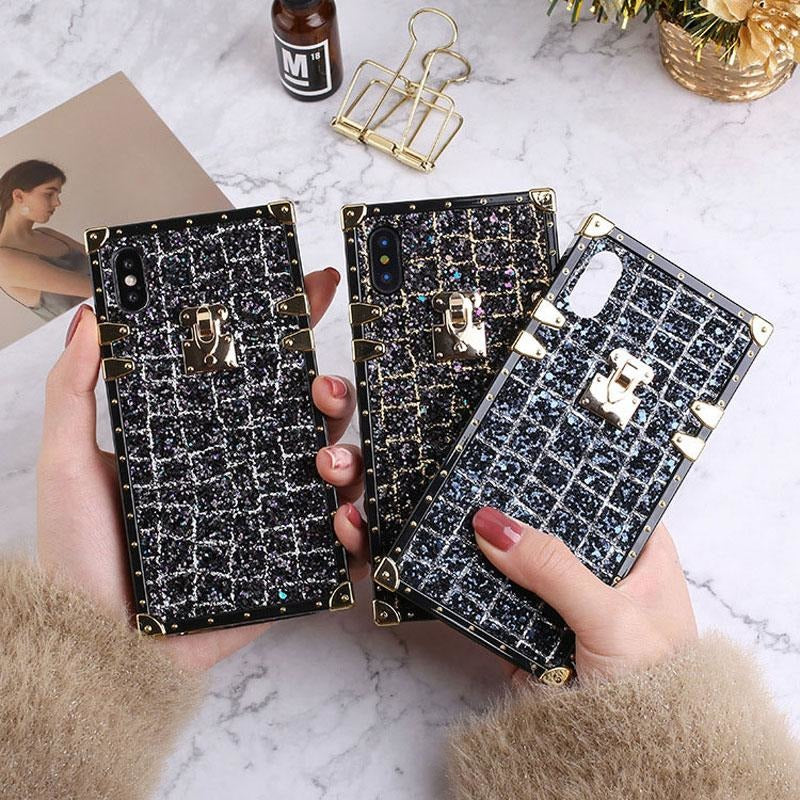 Luxury Square Lattice Soft TPU Case for IPhone