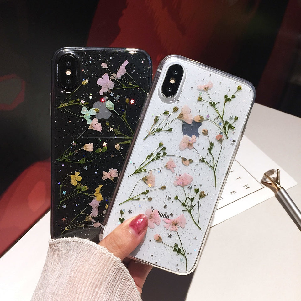 Transparent Flower Iphone Case