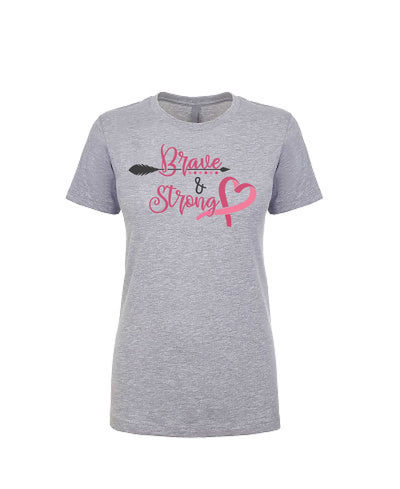 Brave and Strong - Women's Boyfriend Tee - TeesForHumanity