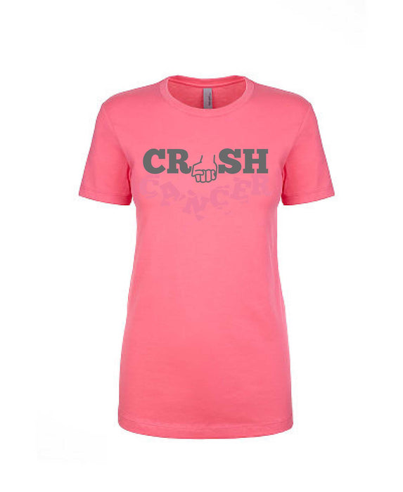 Crush Cancer - Women's Boyfriend Tee - TeesForHumanity