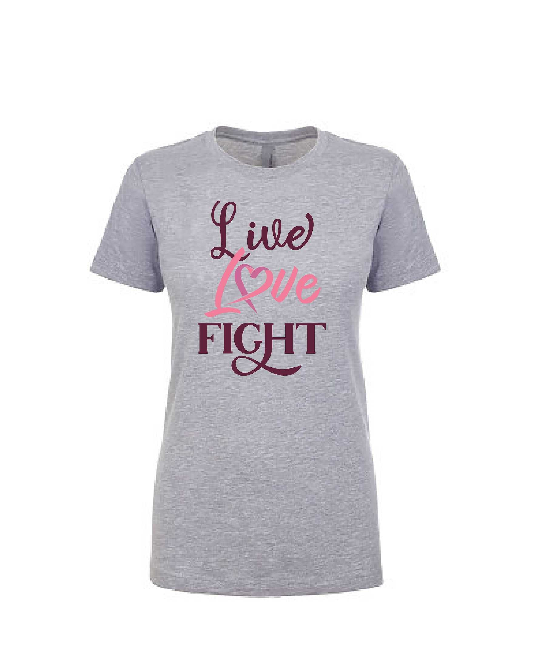 Live Love Fight - Women's Boyfriend Tee