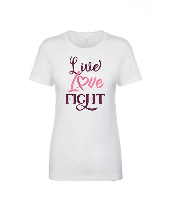 Live Love Fight - Women's Boyfriend Tee - TeesForHumanity