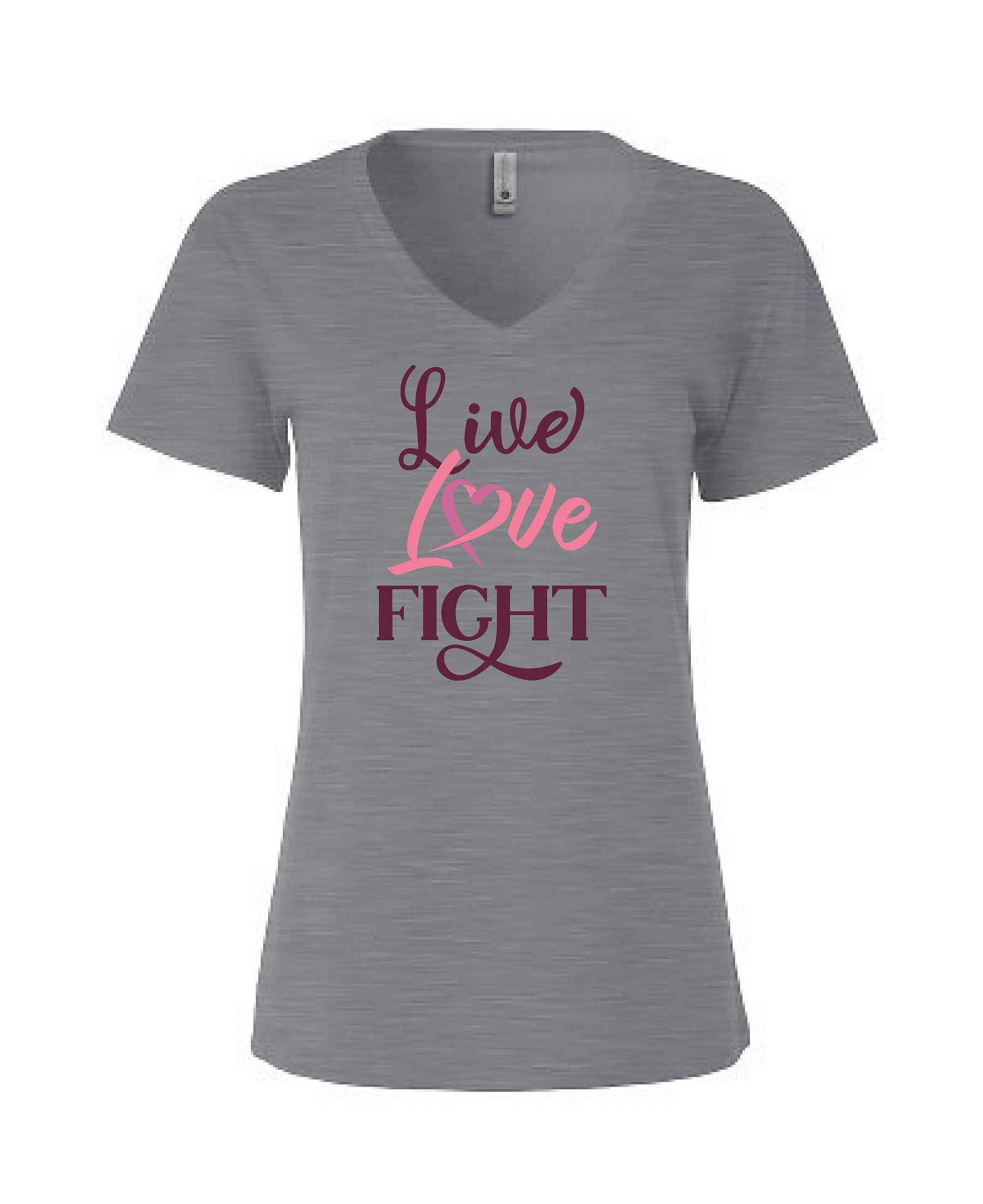 Live Love Fight - Women's Relaxed V Neck