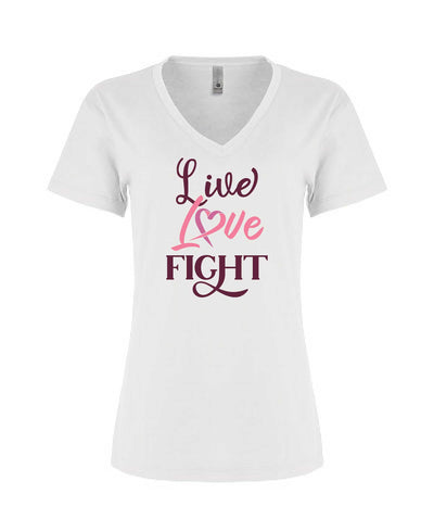 Live Love Fight - Women's Relaxed V Neck - TeesForHumanity