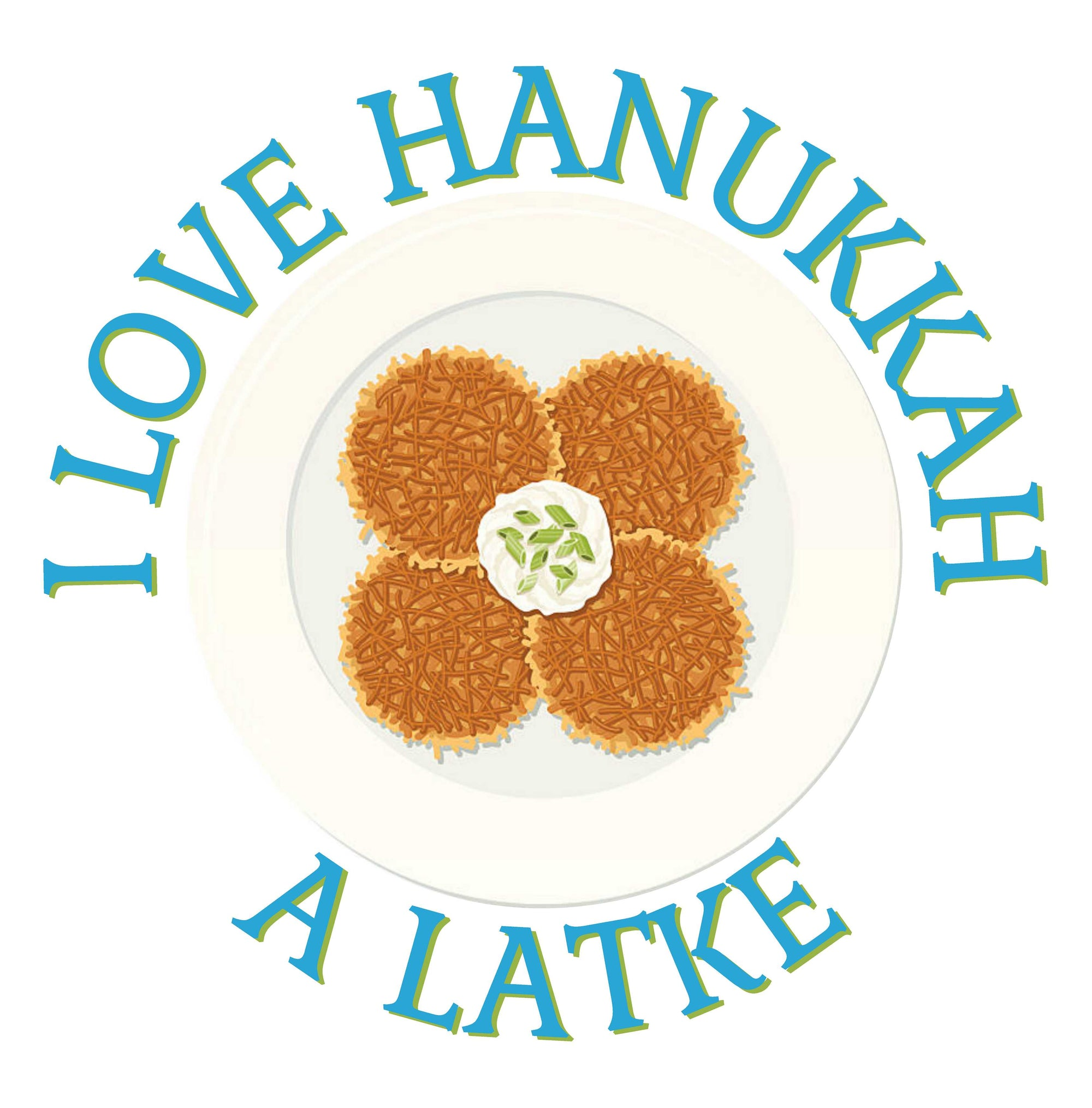 I love Hanukkah - Women's V Neck