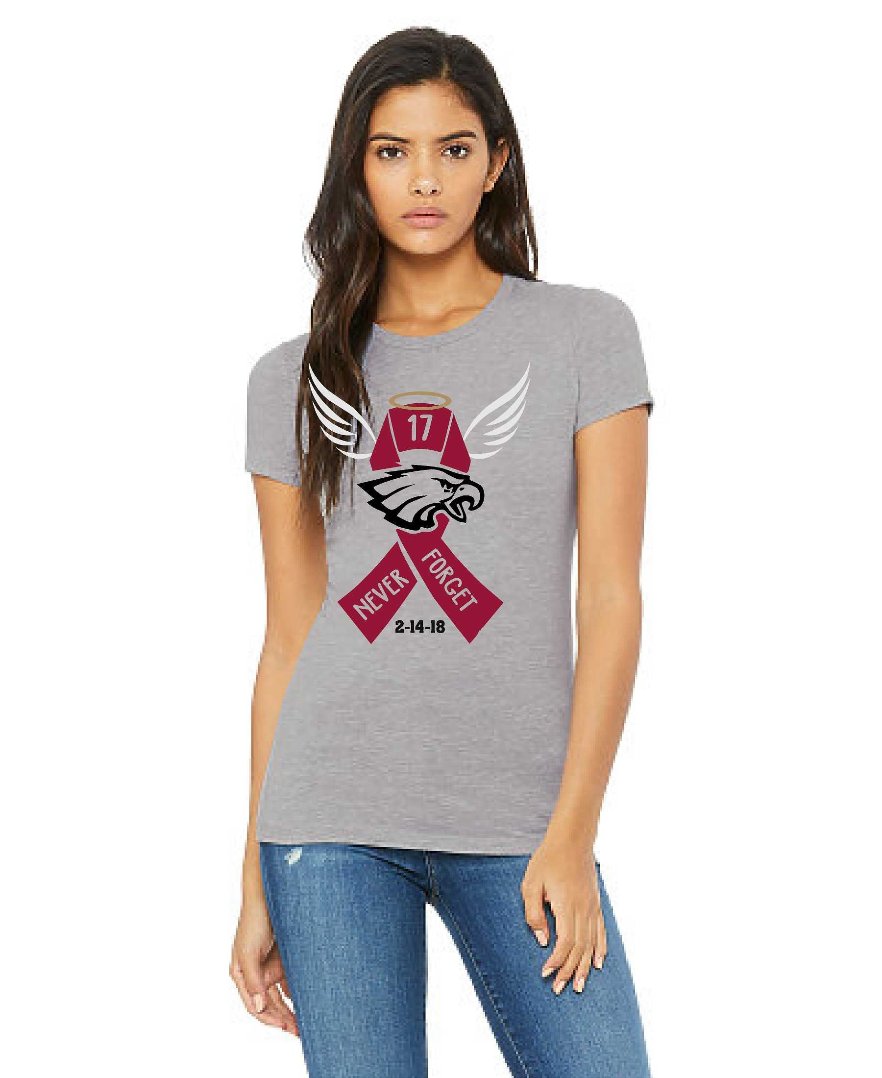 Stoneman Douglas 2nd Anniversary Tee - Athletic Heather Women's - TeesForHumanity