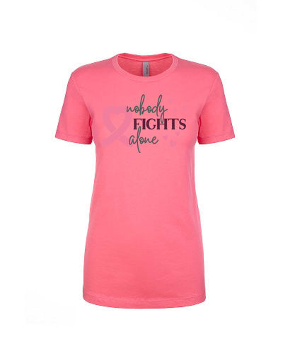 Nobody Fights Alone - Women's Boyfriend Tee - TeesForHumanity