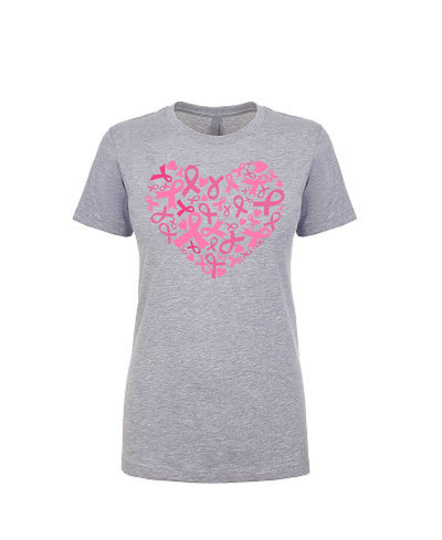 Heart of Ribbons - Women's Boyfriend Tee - TeesForHumanity
