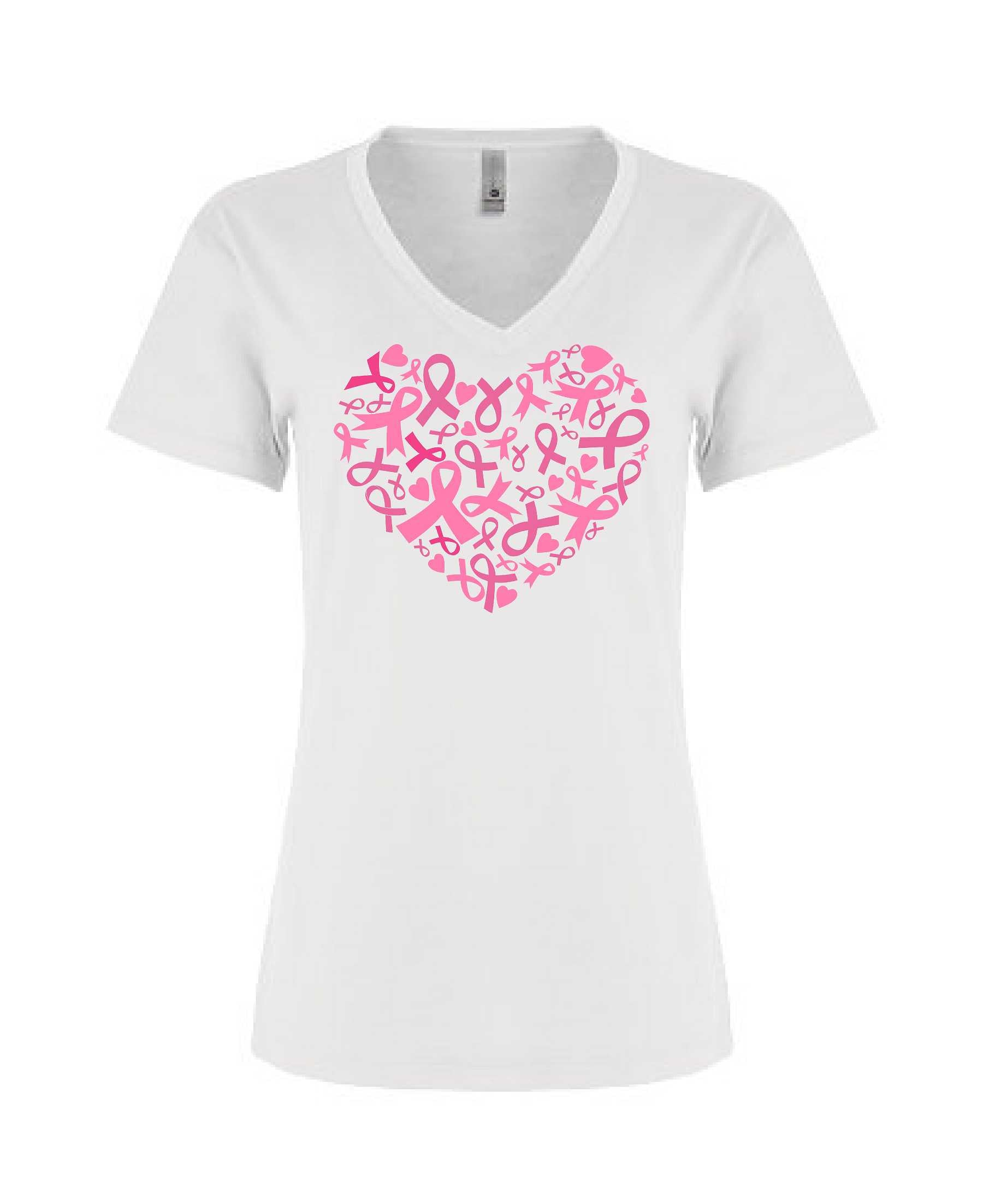 Heart of Ribbons - Women's Relaxed V Neck
