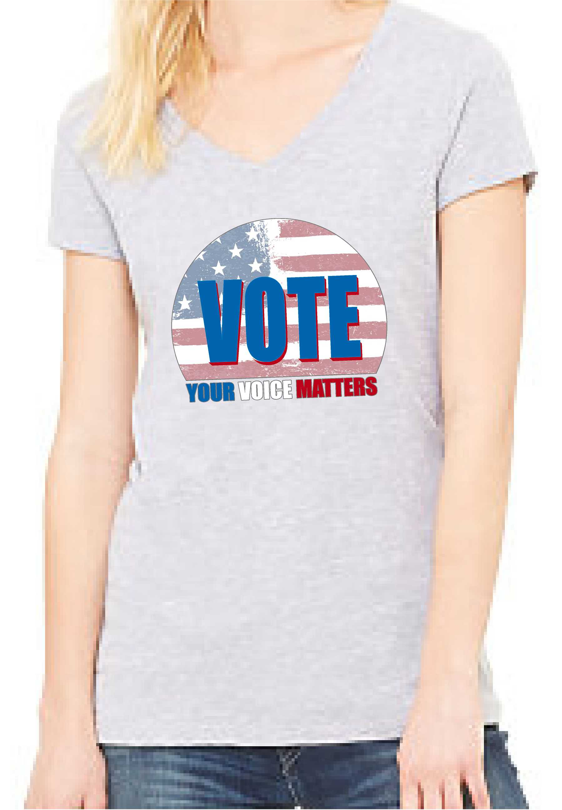 Your Voice Matters (Women's V Neck) - TeesForHumanity