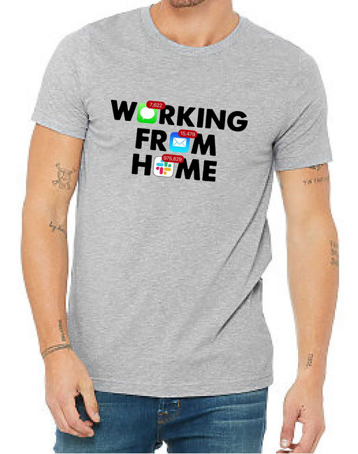 Working From Home (Unisex Crew Neck) - TeesForHumanity