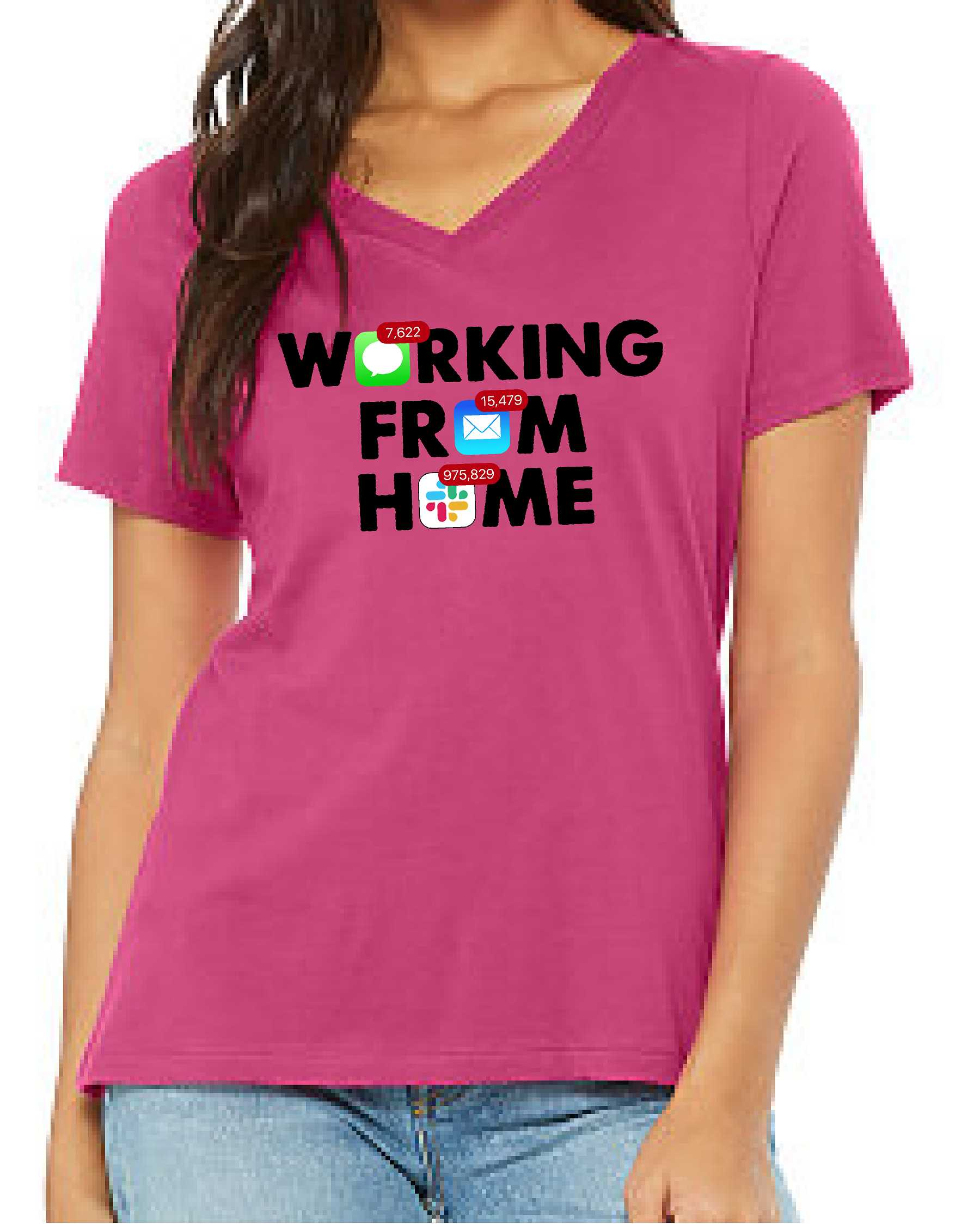 Working From Home (Women's V Neck)