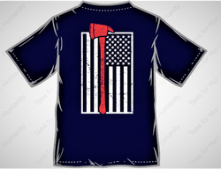 Firefighter American Flag T shirt