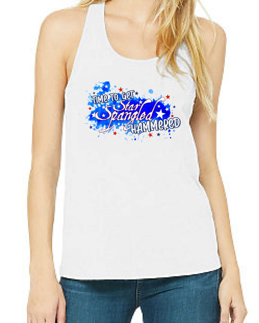 Star Spangled, Hammered Tank - TeesForHumanity