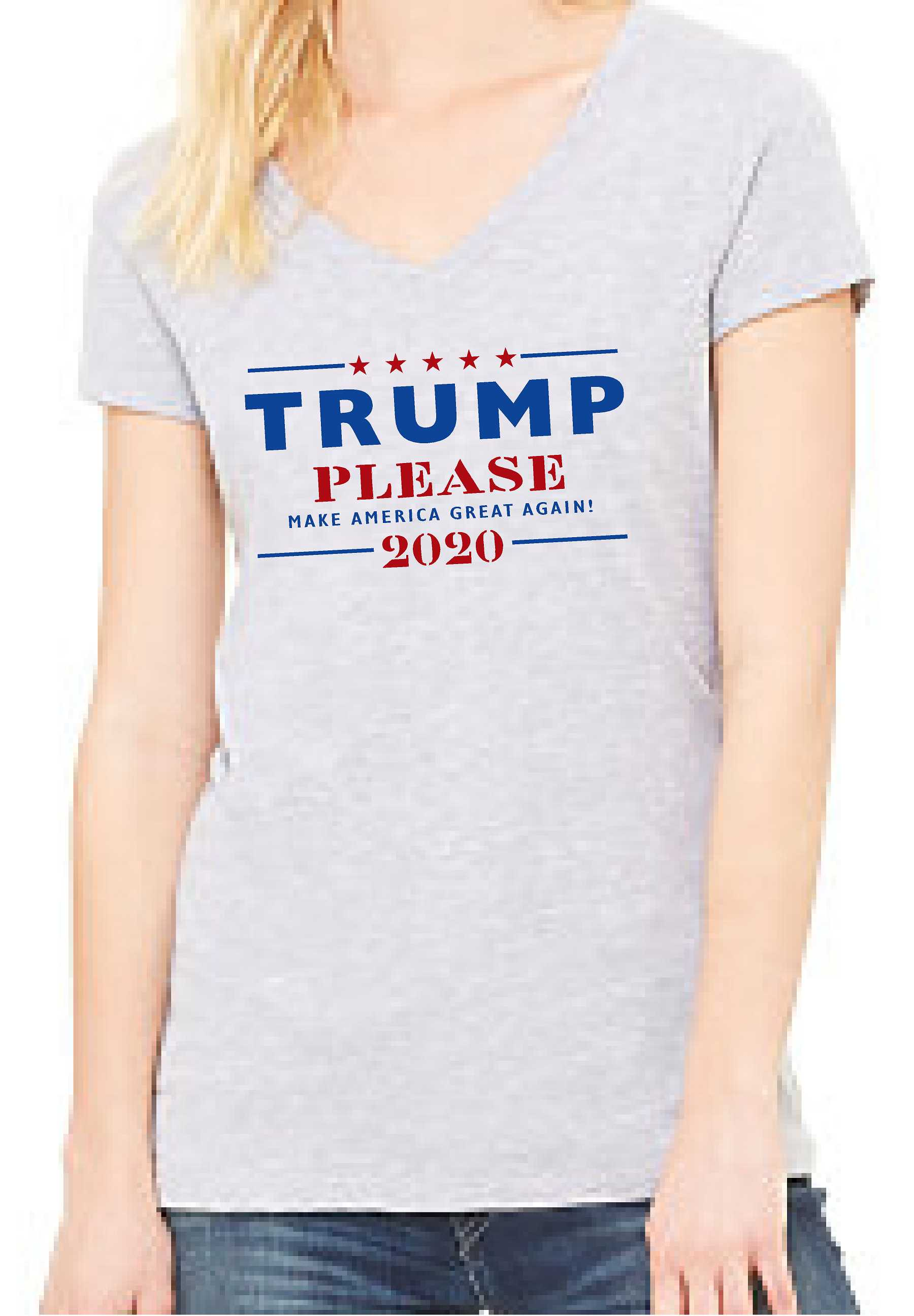 Trump Please (Women's V Neck) - TeesForHumanity