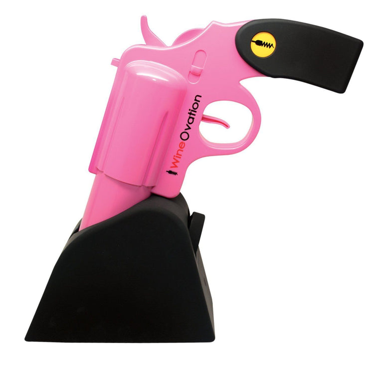 WineOvation WNO-01P Powered Electric Wine Opener Gun, (Pink)