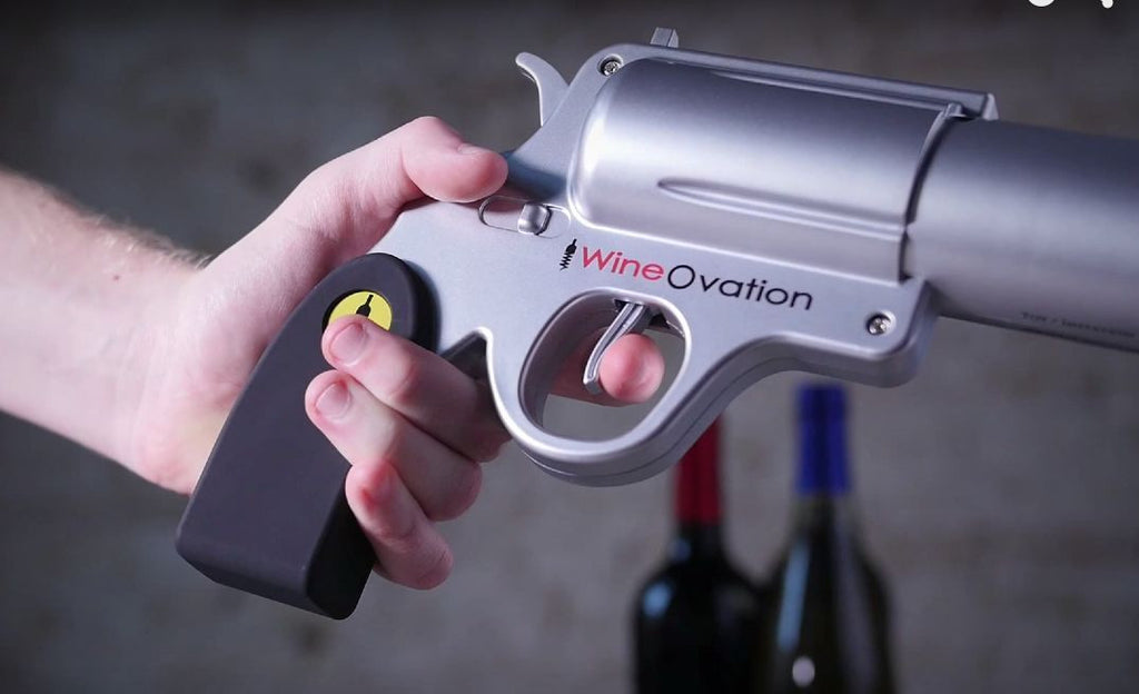 WineOvation WNO-01 Powered Electric Wine Opener Gun, (Silver)