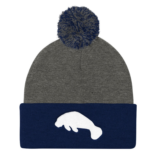 MANATEE Pom Pom Knit Cap- MORE COLORS