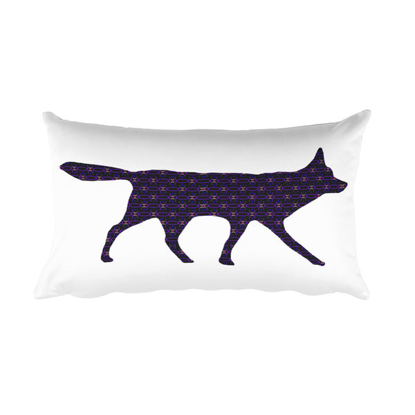 RED WOLF HOPE PRINT Rectangular Pillow