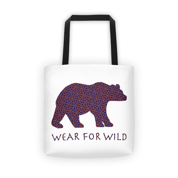 BEAR CORAL WEB PRINT Tote bag - Wear for Wild