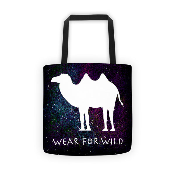 WILD CAMEL SPACE PRINT Tote bag - Wear for Wild