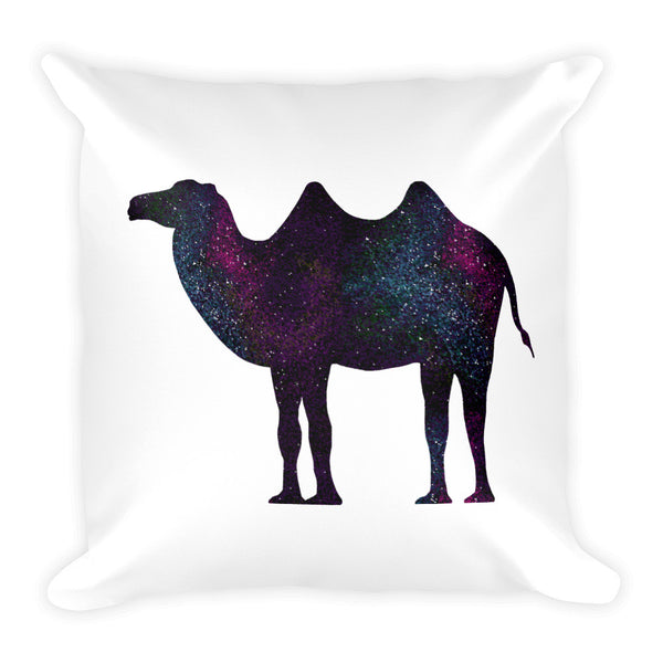 CAMEL SPACE PRINT Square Pillow