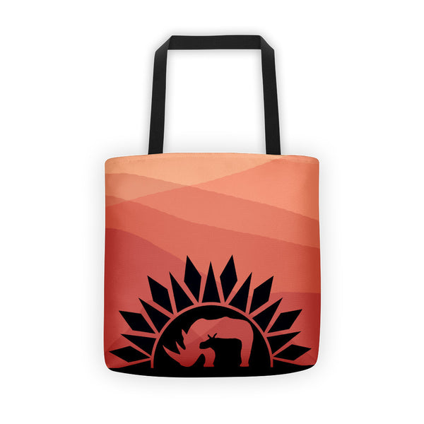 RHINO SUNRISE Tote bag - Wear for Wild