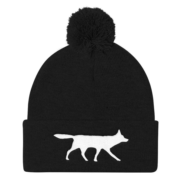 RED WOLF Pom Pom Knit Cap- MORE COLORS - Wear for Wild
