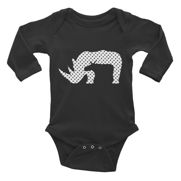 RHINO END XTINCTION Infant Long Sleeve Bodysuit- MORE COLORS - Wear for Wild