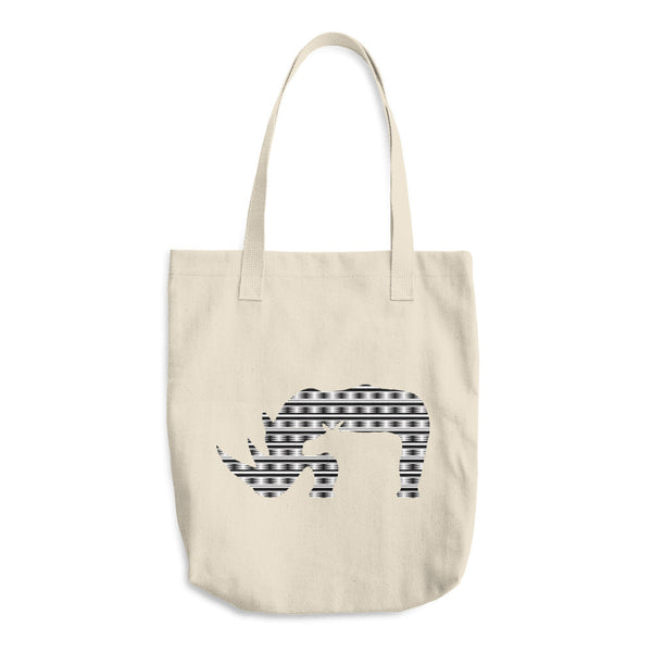 RHINO NEW LIFE PRINT Cotton Tote Bag - Wear for Wild