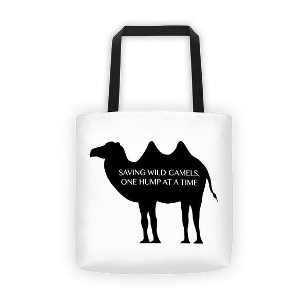 SAVING WILD CAMELS, ONE HUMP AT A TIME Tote bag - Wear for Wild
