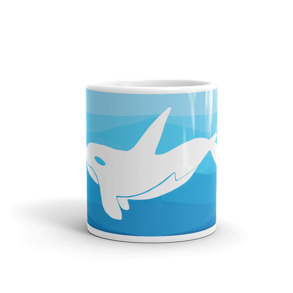 ORCA IN THE DEEP BLUE SEA Mug