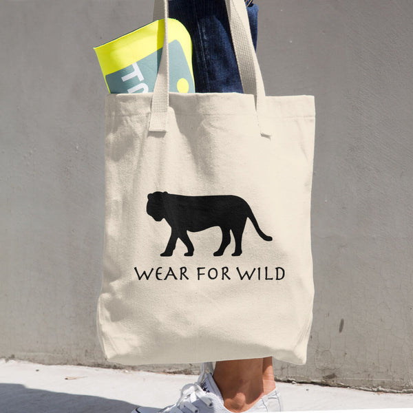 TIGER Cotton Tote Bag - Wear for Wild