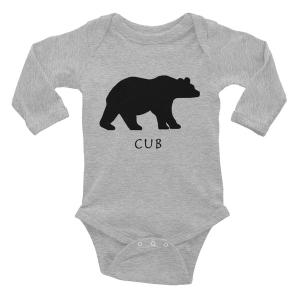 BEAR CUB Infant Long Sleeve Bodysuit- MORE COLORS - Wear for Wild