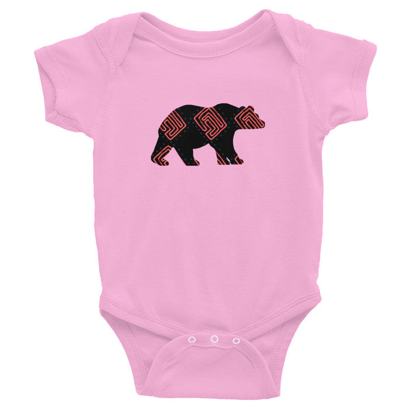 BEAR SQUARE SWIRLS Infant Bodysuit- MORE COLORS