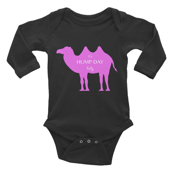 IT'S HUMP DAY BABY pink Infant Long Sleeve Bodysuit- MORE COLORS