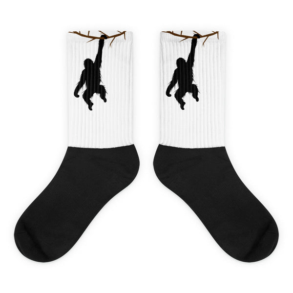 HANGING ORANGUTAN Black foot socks - Wear for Wild