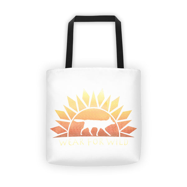 Red Wolf Classic Sunrise Tote bag - Wear for Wild