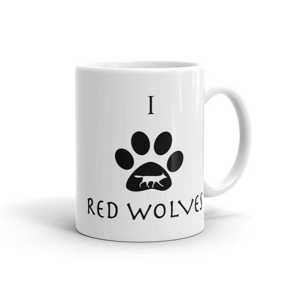 Red Wolf Love Mug - Wear for Wild