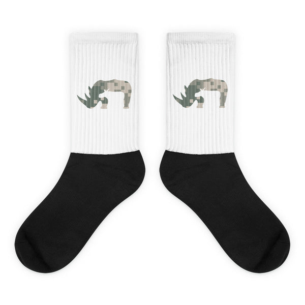 CAMO RHINO Black foot socks - Wear for Wild